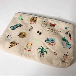 🦋🌙 ANTHROPOLOGIE | Vacation Makeup Pouch